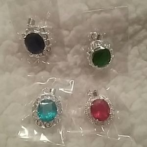 Set of 4 necklace charms
